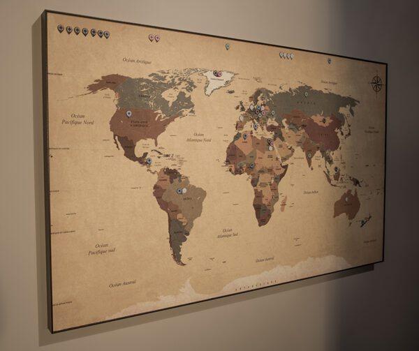 Magnetyczna mapa świata clasicc