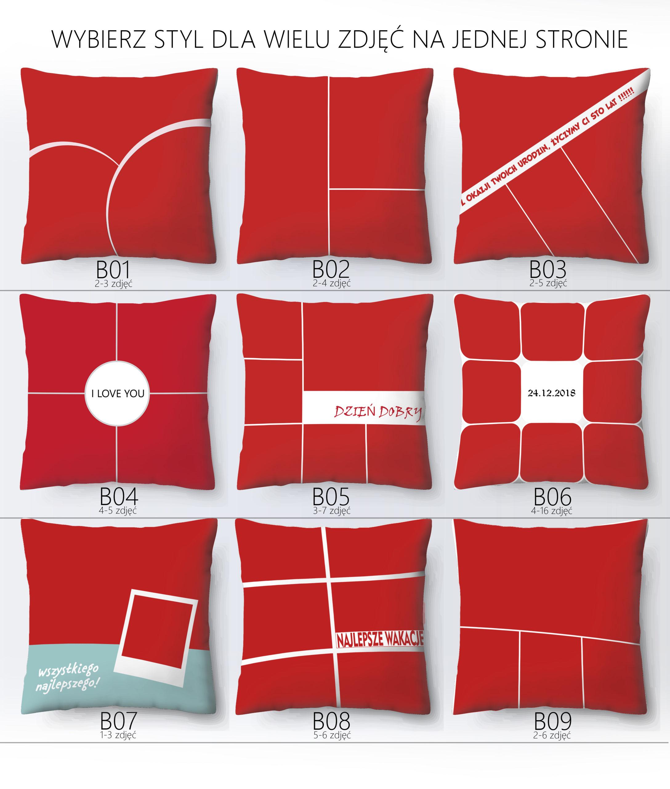 Poduszka ze zdjęciem ILUMINACYJNA - styl dla wielu zdjęć