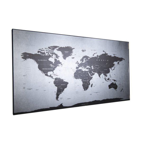 Mapa świata SILVER