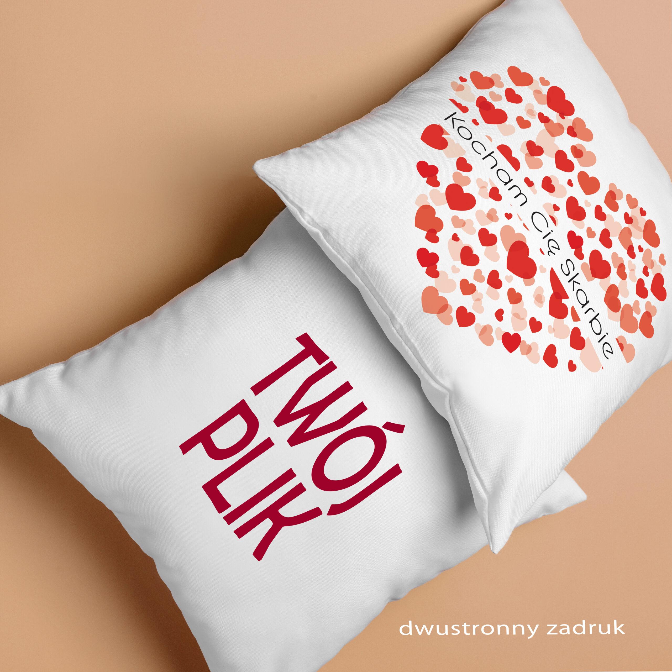 Kocham Cię Skarbie - Poduszka Prezent na Walentynki