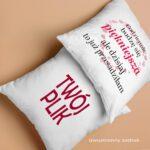 Poduszka Prezent na Walentynki - twój plik
