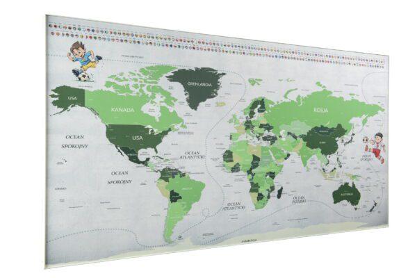 magnetyczna mapa świata footbal